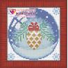 В рамке Новогодний шарик с шишкой Алмазная вышивка мозаика АЖ-1256