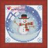 В рамке Новогодний шарик со снеговиком Алмазная вышивка мозаика АЖ-1258