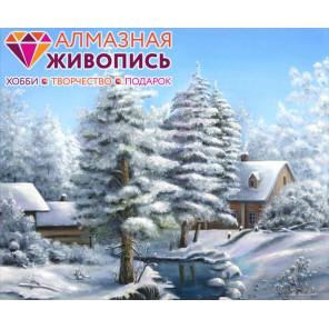 Морозный пейзаж Алмазная вышивка мозаика АЖ-1285