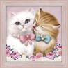 В рамке Кот и кошка Алмазная вышивка мозаика АЖ-1296