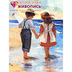 В рамке Дети у моря Алмазная вышивка мозаика АЖ-1300