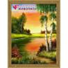 В рамке Березка у берега Алмазная вышивка мозаика АЖ-1330