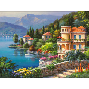 Озеро Комо Алмазная вышивка мозаика АЖ-1333