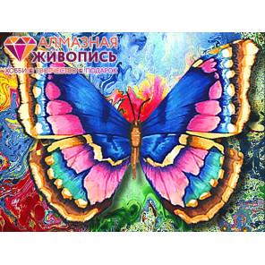 Рисунок бабочки Алмазная вышивка мозаика АЖ-1130