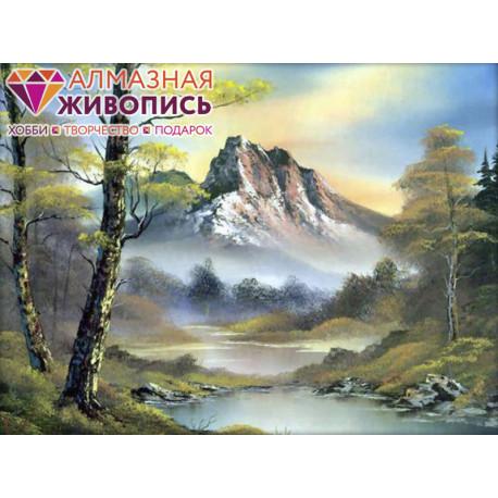Горный пейзаж Алмазная вышивка мозаика АЖ-1137