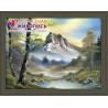 В рамке Горный пейзаж Алмазная вышивка мозаика АЖ-1137