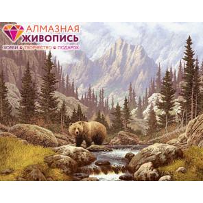 Медведь на воле Алмазная вышивка мозаика АЖ-1142