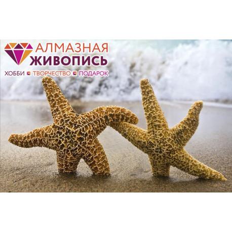 Две звезды Алмазная вышивка мозаика АЖ-1056