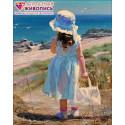 Девочка у моря Алмазная вышивка мозаика АЖ-1118