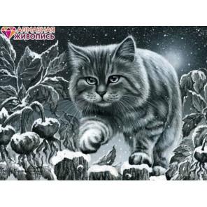 Кот на заборе Алмазная вышивка мозаика АЖ-1415