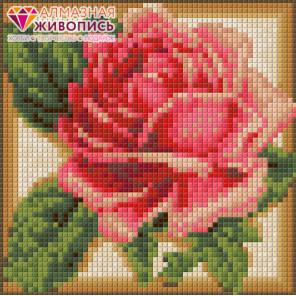 Румяная роза Алмазная вышивка мозаика АЖ-1450