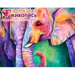 Мудрость слонов Алмазная вышивка мозаика АЖ-1385