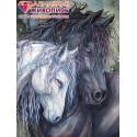 Пара лошадей Алмазная вышивка мозаика