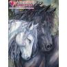 Пара лошадей Алмазная вышивка мозаика АЖ-1386