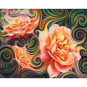 Розы в абстракции Алмазная вышивка мозаика АЖ-1393