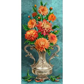 Хризантемы Алмазная вышивка мозаика АЖ-1633