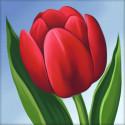 Красный тюльпан Алмазная вышивка мозаика АЖ-1634