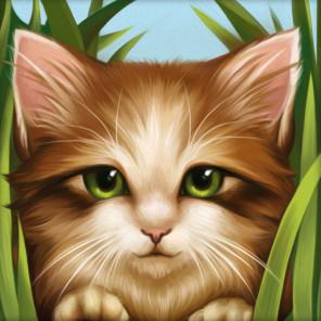 Зеленоглазый котенок Алмазная вышивка мозаика АЖ-1640