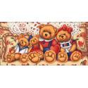 Плюшевые медвежата Алмазная вышивка мозаика АЖ-1645