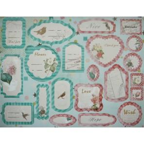 Птицы и цветы Вырубные ярлычки-тэги для скрапбукинга, кардмейкинга Рукоделие