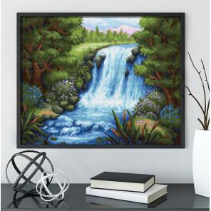 Тихий водопад Алмазная вышивка мозаика АЖ-1654