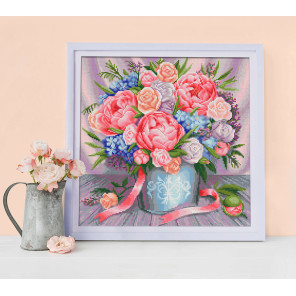 Милый букет Алмазная вышивка мозаика АЖ-1655