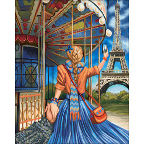 В рамке Следуй за мной Париж Алмазная вышивка мозаика АЖ-1631
