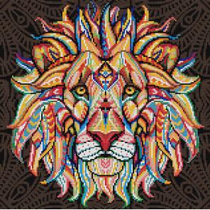Дух льва Алмазная вышивка мозаика АЖ-1595