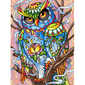Красочный филин Алмазная вышивка мозаика АЖ-1610