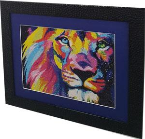 Алмазная вышивка (мозаика) Гранни - радужный лев ag444