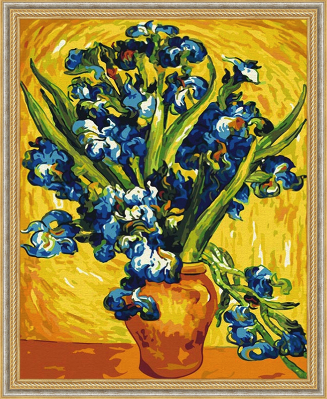 006-CG Ирисы Ван Гог Раскраска картина по номерам на ...