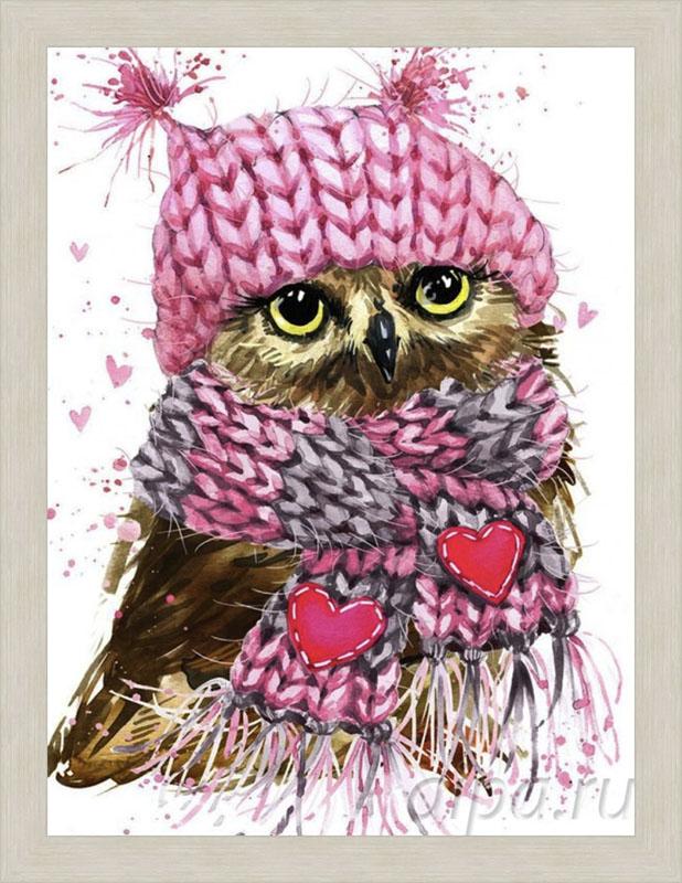 Картина Милая совушка в рамке N186 Луара