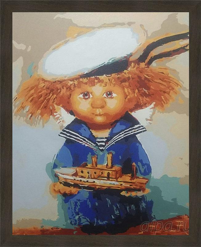 Картина Домовёнок-морячок в рамке N181 Isabella