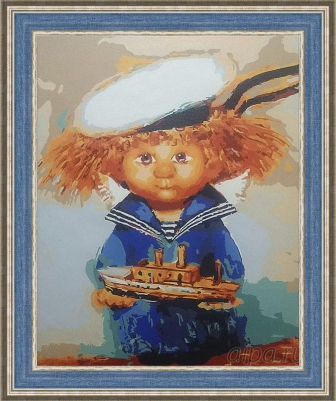 Раскраска Домовёнок-морячок в рамке Айлин N182